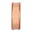 Taftband mit Draht, Breite 25 mm , Länge 25 m, apr